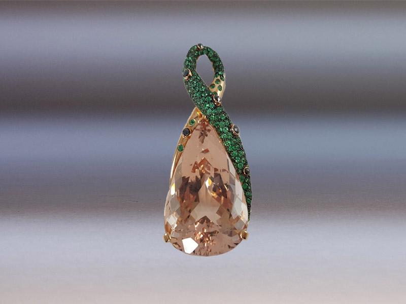 a basso prezzo ce687 e9fc9 Ciondolo Morganite - AGI Alta Gioielleria Italiana
