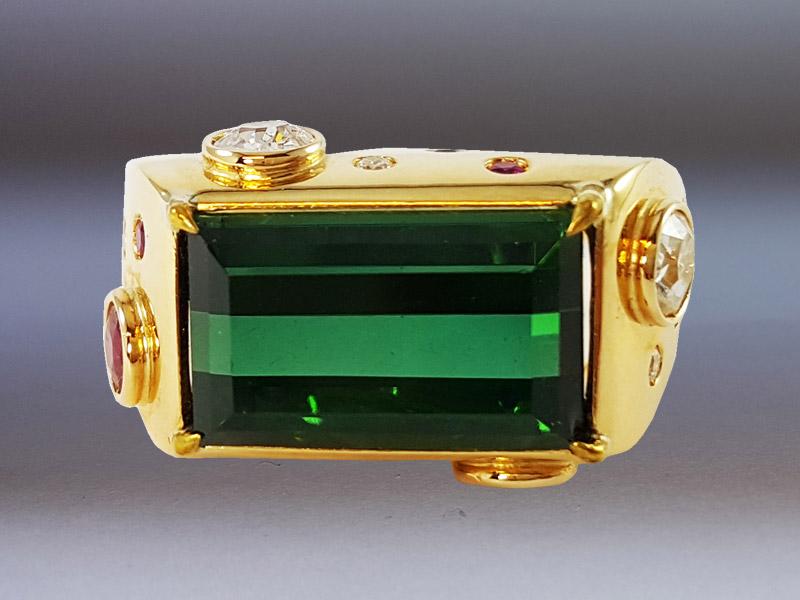 anello-tormalina verde