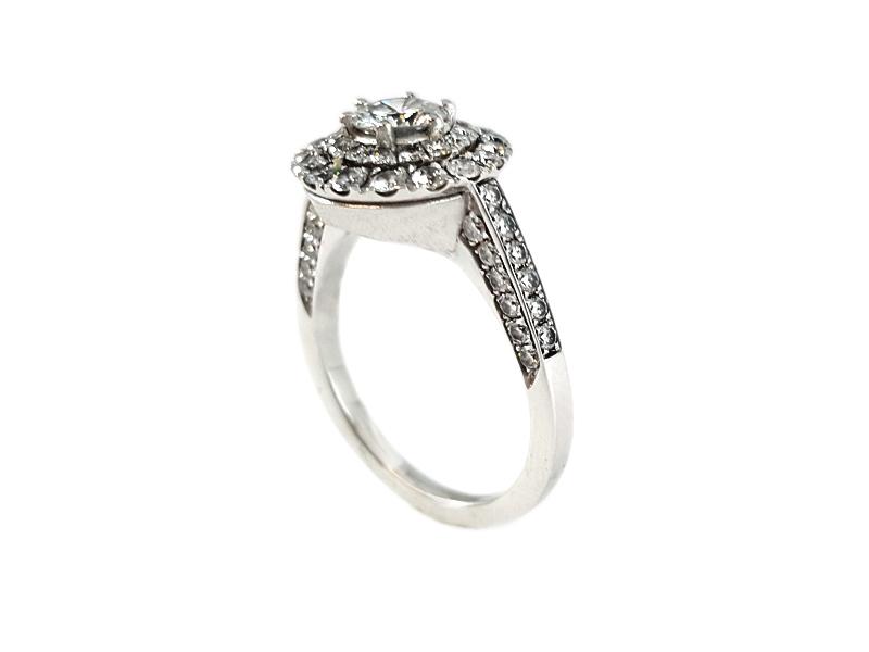 Anello oro bianco e Diamanti 2