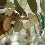anello smeraldi e diamanti